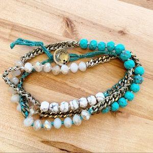 C+I Bead & Chain Palm Royale Multi-Wrap Bracelet